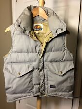 Vintage Class-5 XS Puffer Goose Down Vest Grey Back To The Future McFly USA Made