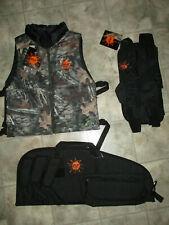 New 3 Piece Paintball Gear Set Splat Padded Reversible Vest Fanny Pack Gun Case