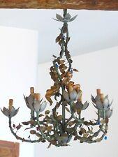 HUGE Italian Chandelier Rare Pair Gilded Cherub Floral them 10 lights Early 20TH