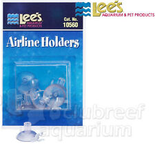 Airline Suction Cup Aquarium Air Tubing Holders Lee's 6 pc Pack