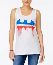 NWT Bioworld Juniors' Batman Graphic Tank White Size S (Macy's)