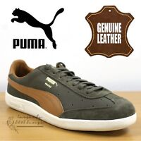 PUMA Madrid Men's Casual Sneakers Jungle Green Suede Leather Trainers 363806 02