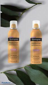 LOT OF 2  Neutrogena Micro-Mist AIRBRUSH SUNLESS Tan SPRAY • MEDIUM  5.30 oz