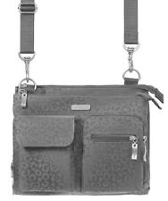 Baggallini Everything Crossbody Bag in Pewter Cheetah w/Mimosa Interior (SALE!)