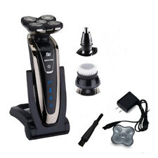 Rotary Silver 5D Rechargeable Washable Men's Cordless Electric Shaver Razor