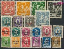 Duits Empire 119-138I (compleet Kwestie) postfris MNH 1920 Beieren-Afs (9304997
