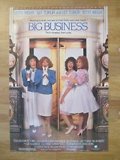 BIG BUSINESS   Original American One Sheet  Bette Midler, Lily Tomlin