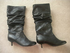 ALDO Black Leather Boots - CARILYNNE-97 Size 8M (38B) Only Worn Once w/Orig Box