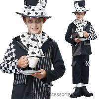 CK878 Boys Dark Mad Hatter Wonka Fancy Halloween Alice in Wonderland Costume