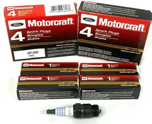 New Pack Of 8 OEM Spark Plug Motorcraft SP-430