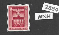 #2884    Nice MNH Brandenburg Gate stamp / 1943 Third Reich WWII Berlin Germany