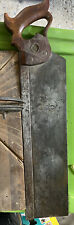 Antique Henry Disston & Sons 16 inch Miter Back Hand Saw.