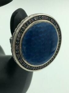 John Hardy *ULTRA RARE* Blue Sapphire Amethyst Sterling Silver Ring - Stunning!