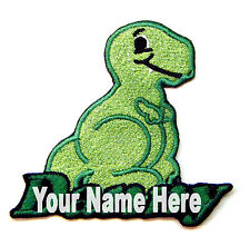 Dinosaur Custom Iron-on Patch With Name Personalized Free