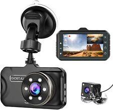 New listing Chortau Front and Rear Dual Car Dash Cam Hd 1080p Dashcam Dvr Video Recorder