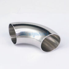 "38mm 1-1/2"" O/D SS304 Sanitary Weld 90 Degree Elbow Pipe Fitting Homebrew"