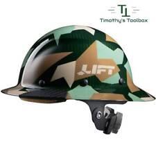 Lift Safety Dax Carbon Fiber Full Brim Hard Hat Jungle Camo Hdc 20cj New