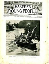 Harper's Young People Magazine August 22 1893 Wagstaff Island GD 042717nonjhe