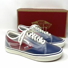 VANS ComfyCush Slip Sk Canvas Red Blue Men's Sneakers VN0A4P3EWYF