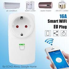 Wifi Smart 16A EU Plug Power Socket Outlet APP For Amazon Alexa For Echo Google