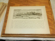1874 Antique Print/VIEW OF SAVANNNAH, GA FROM THE RIVER