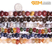 "6x8mm Natural Gemstone Freeform Chips Nugget Loose Beads Jewellery Making 15"" CA"