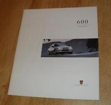 Rover 600 Brochure 1995 620 TI 623 GSI SI SLI SDI SLDI
