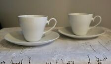NEW Set of 2 ROSENTHAL ROMANCE White Cups and Saucers Fine White China