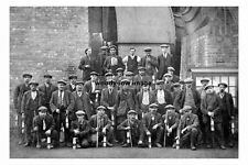 pt4379 - Yorkshire Main Colliery , Pit Deputies - photograph 6x4