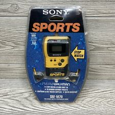 Vintage SONY Walkman Sports FM/AM Radio Yellow SRF-M70 Headphones - Tested