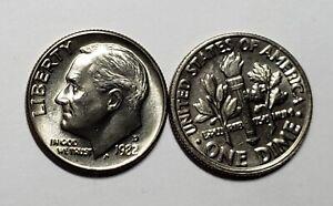 1982-D  Roosevelt Dime Choice/Gem From Original Bank Roll No reserve