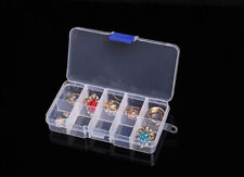 10 Cells Empty Clear Acrylic Plastic Storage Box Case for Nail Art Tips Gems