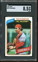 1980 Topps #85 Ted Simmons SGC Graded 8.5 = PSA 8.5? NM-MT+ Cardinals HOF Card