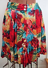 Vintage 90's WHEATON & KATZ Limited Edition TROPICAL Long Culotte SHORTS/Size S