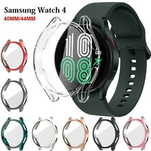 For Samsung Galaxy Watch 4 40mm / 44mm Screen Protector TPU Case Cover
