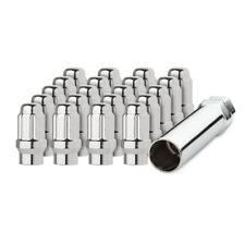 20 Chrome 1/2-20 Closed End ET Spline Tuner Lug Nuts for Aftermarket Wheels