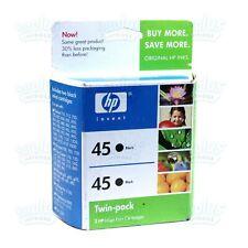 2/Pack Genuine HP 45 51645A Black Ink DeskJet 9300 6127 1600 1120 990 970
