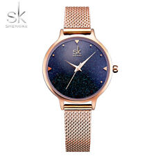 SK Top Brand Luxury Star Sky  Rose Gold Women Wrist Watch  Quartz Ladies Watches
