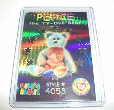 Ty S3 Rare 4053 Peace The Ty-Dye Bear Silver Card Insert Only #54