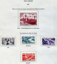 FRANCE POSTE AERIENNE 1949 PA 24-28 NEUF AVEC CHARNIERE COTE 76E REF950