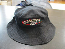 VINTAGE Backstreet Boys Bucket Hat Cap Black Red Concert Tour Boy Band 90s