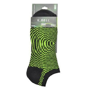 K. Bell Men's Optic no Show with Arch Support Socks One Size - 16858M