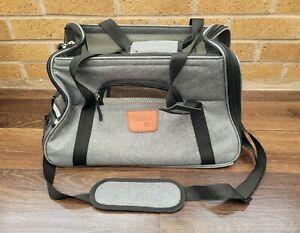 Soft Lightweight Grey Hartann Pet Carrier Bag With Fleece Bed, Small Dog & Cat