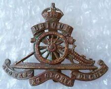 Badge- British Army Royal Artillery Cap Badge KC (BRASS,Org*)