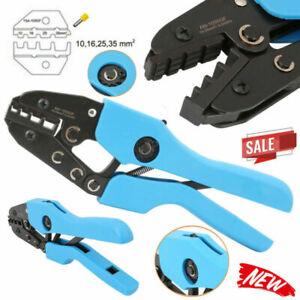 10-35mm² Ratchet Ferrule Bootlace Crimper Crimp Plier Wire Cable Terminal Tool