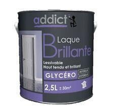 PEINTURE GLYCERO BRILLANT DECORATION BLANC 2.5L Lessivable interieur exterieur