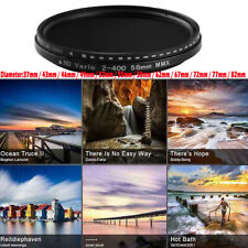 Neutral Density Variable Nd Filter Adjustable Nd2 to Nd400 for Camera Lens Us !