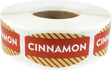 Cinnamon Grocery Market Stickers, 0.75 x 1.375 Inches, 500 Labels on a Roll