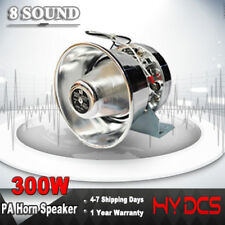 300W PA Horn Loud Sound Car Speaker Siren System Warning Kit Police Alarm Fire