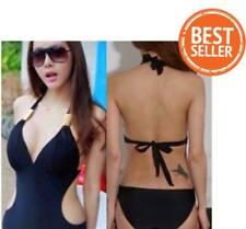 (Jc) One Piece Swimsuit Bikini (Sexy Cut Monokini) Black